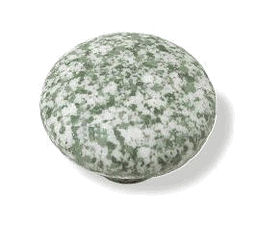 Green and White Ceramic Knob