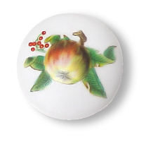 Apple Ceramic Knob