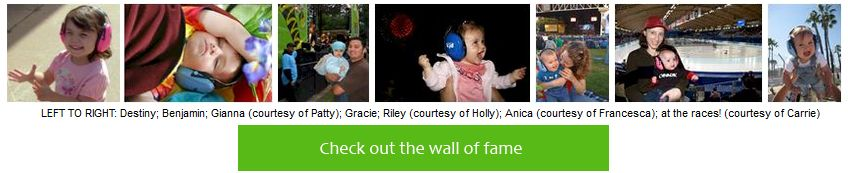 Check out the Baby Earmuff Wall of Fame!