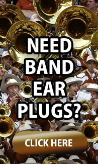 Ear plugs for school bands and music students