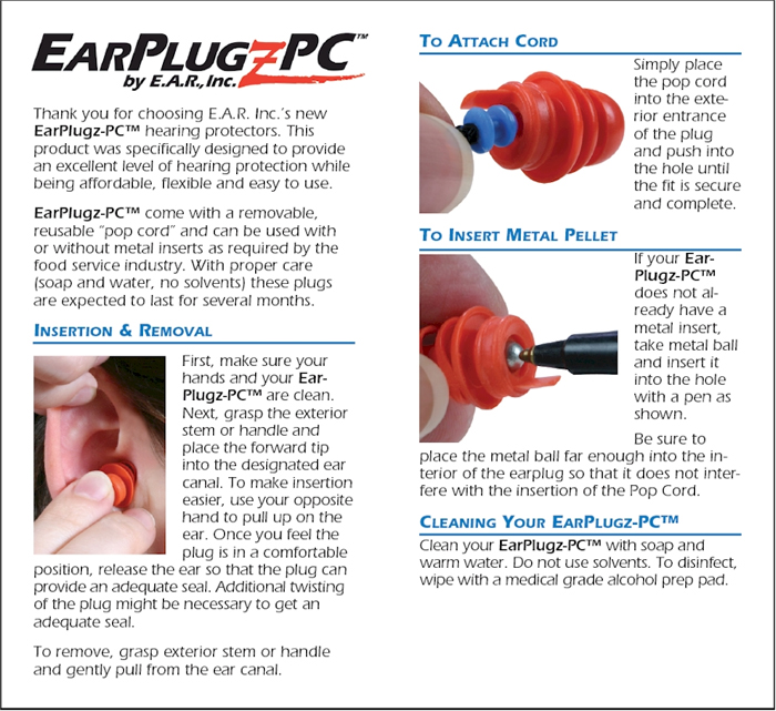EarPlugz-PC Information Continued