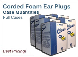 Corded Foam Ear Plugs in Cases, Best Prices!