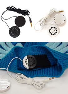 Got Ears? HatPhones feature built-in, removable, slim-profile speakers!