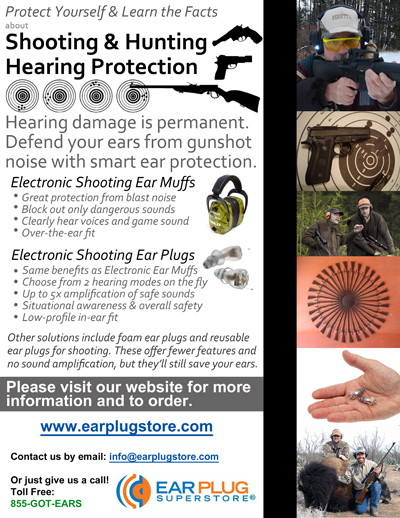 Flyer: Hunting and Shooting Hearing Protection