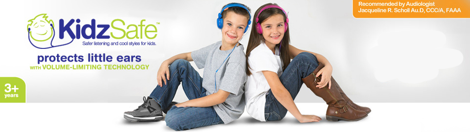 KidzSafe Headphones are audiologist recommended for children ages 3 and up.