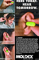 Moldex Foam Ear Plug Insertion Poster