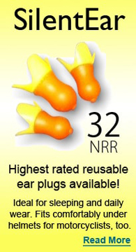 SilentEar Reusable Ear Plugs - Learn More