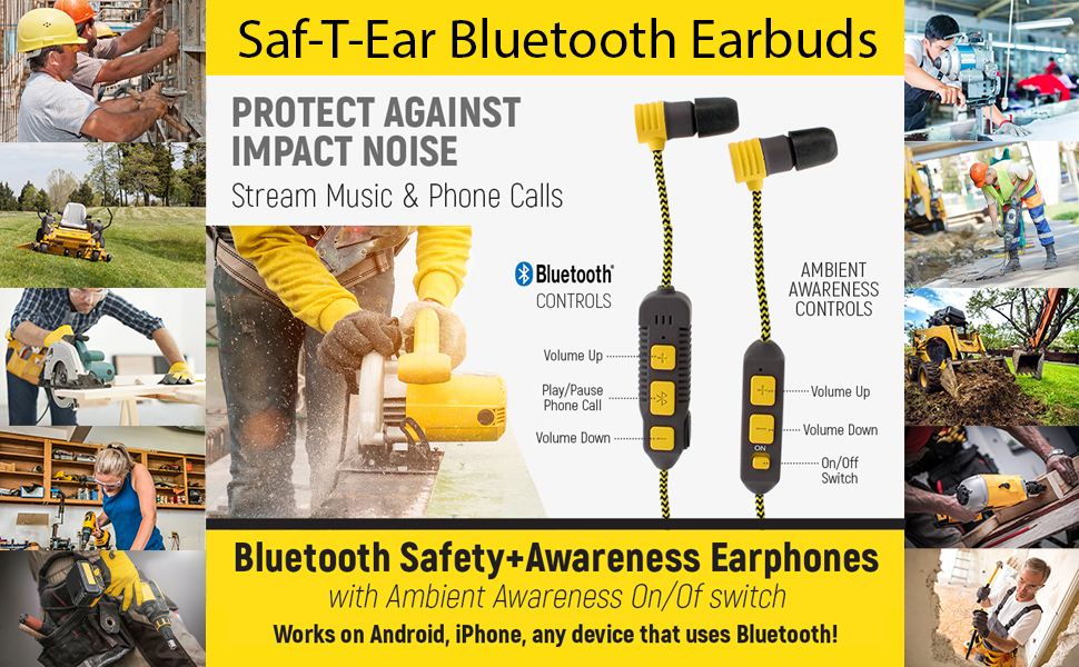 Saf-T-Ear Bluetooth Earbud Features