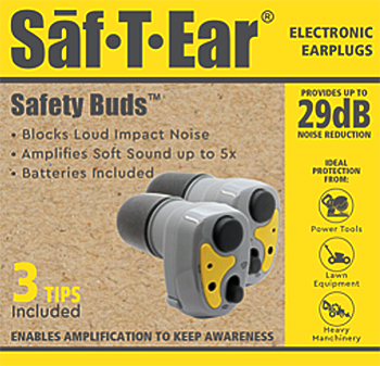 Saf-T-Ear BUDS Electronic Hearing Protection