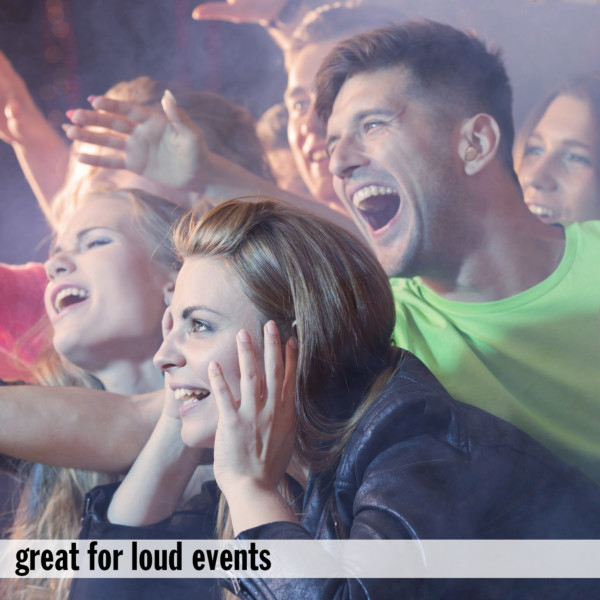 Thermafit Ear Plugs are Perfect for Loud Events