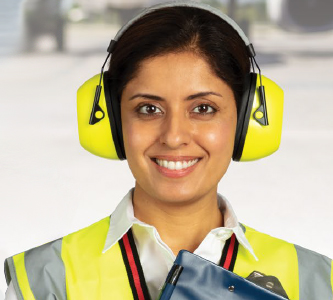 VeriShield 100 Series Ear Muffs - Hi-Viz Headband Style