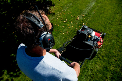 Worktunes Wireless Hearing Protection for Mowing and Working
