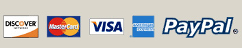 Accepted Credit Cards Visa Mastercard Discover American Express PayPal