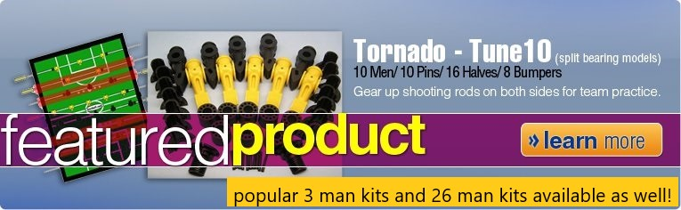 Tune up parts kit for Tornado Foosball Tables/