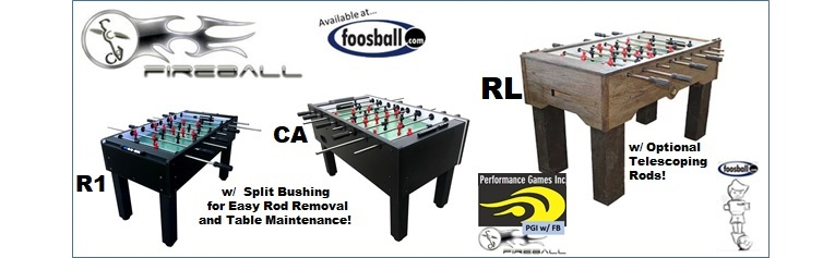 Fireball Tables Soccer available at foosball.com/