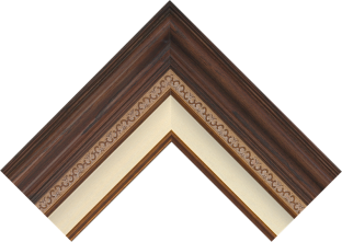 dark walnut corner small frame