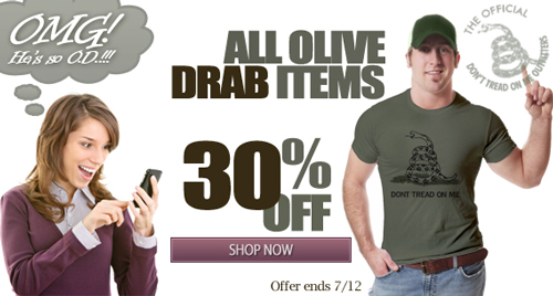 OMG OD DONT TREAD ON ME SALE
