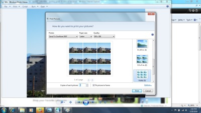 Windows Photo Viewer makes printing multiple photos a breeze.
