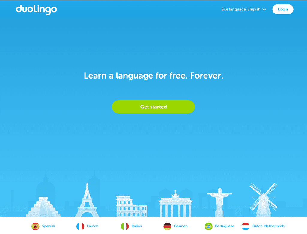 Learn a language for free. Forever.