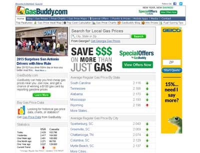 Find Low Gas Prices in the USA and Canada