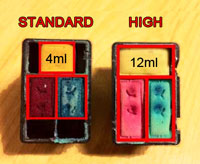Standard vs High capacity Cartridges