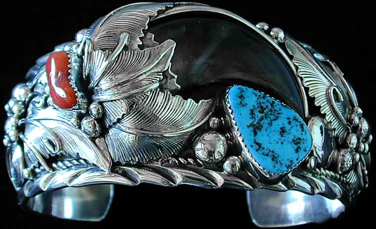 Bear Claw Turquoise Navajo Bracelet Image1
