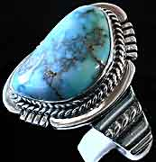 Men's Sacred Buffalo Turquoise Ring (image 1)
