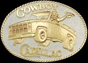 Cowboy Cadillac Belt Buckle 2 by Montana Silversmiths