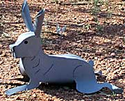 Jack Rabbit Sculpture - Metal