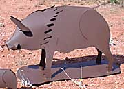 Javelina Sculpture - Metal