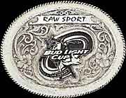 Bud Light Cup Professional Bull Rider Belt Buckle 1 - Silver