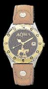 American Quarter Horse Association wrist watch by Montana Silversmiths - leather