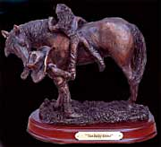 """The Baby Sitter"" bronze sculpture by Montana Silversmiths"