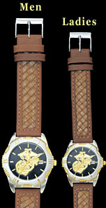 Marine Corps Watch - Leather