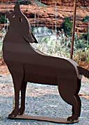 Metal Sculpture - Coyote