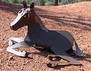 Horse Sculpture - Reclining 1