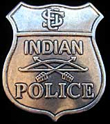 Red Tomahawk Indian Police Badge - Replica
