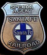 Santa Fe Railroad Bat Masterson Replica Badge