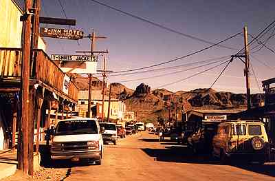 old west ghost town Oatman, Arizona 1
