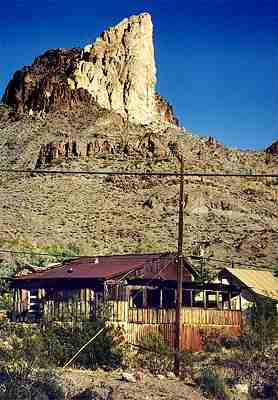 Old west minining town Oatman, Arizona 2