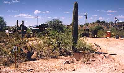 Old west ghost town Vulture, Arizona
