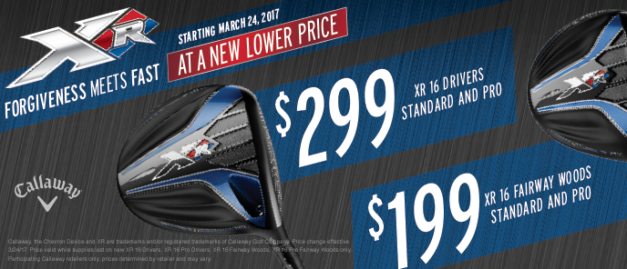 New Callaway XR 16 Woods Price Drop
