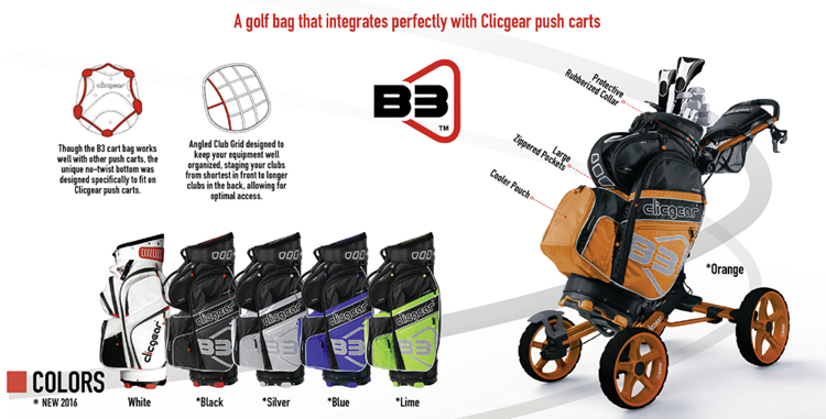 Clicgear B3 Cart Bag Colors