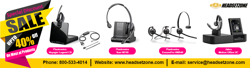 Wireless And Corded Office Headsets By Plantronics Jabra And Vxi Etc