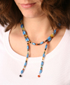 Azure Blue Used as a Long Necklace