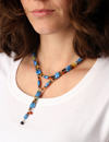 Laurel Azure Blue Used as a Long Necklace
