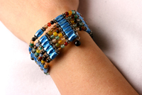 Azure Blue Used as a Bracelet