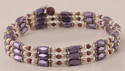 Purple Cat Eye Used as a Choker