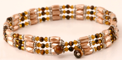 Tiger Eye Used as a Choker