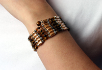 Tiger Eye Used as a Bracelet